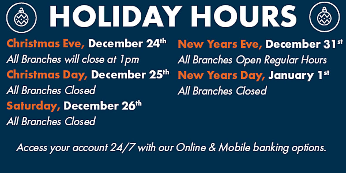 2020 Holiday Hours Ad